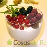Receta de crema muselina con frutos rojos