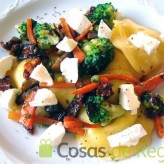 Receta de Pappardelle rellenos de queso con verduras