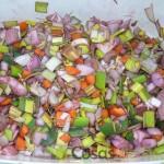Las verduras después de la maceración