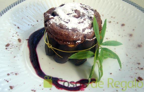 Receta de Charlotte de mousse de chocolate y canutillos