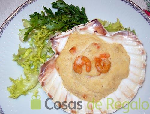 Receta de conchas de marisco
