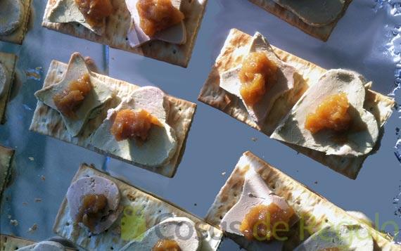 Receta de aperitivo de Foie con Chutney de peras