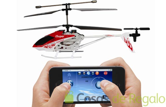 Helicóptero a radiocontrol para iPhone,iPod y iPad