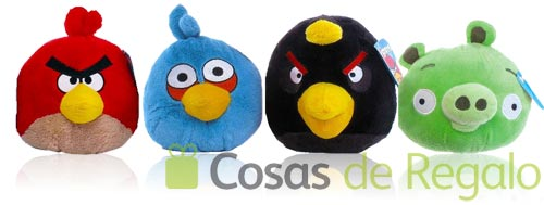 Peluches de Angry Birds de 15 cm.