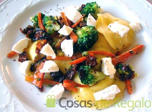 Receta de Pappardelle rellenos de queso con verduras