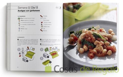 Libro de recetas listas en poco tiempo con el estuche al vapor de Lékué