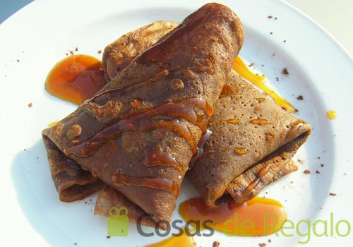 Receta de crepes de chocolate c