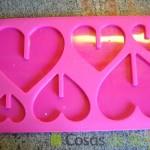 22- Molde de piruletas con forma de corazones