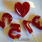 28- Piruletas de caramelo para los Cupcakes de San Valentín