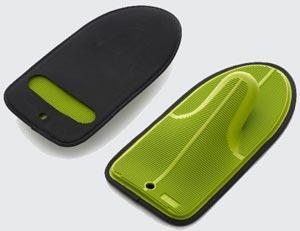 Manopla de silicona y Neopreno de color verde