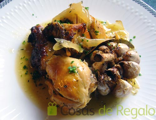 Receta de pollo de corral a las finas hierbas - Pollo asado a las finas hierbas ...