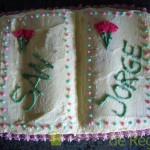 14- Aspecto de la Tarta de San Jorge ya decorada
