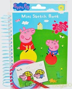 Set libreta para dibujar Peppa Pig