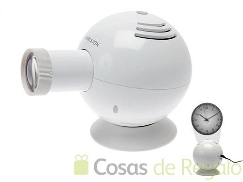 Reloj proyector con esfera de luz auténtica
