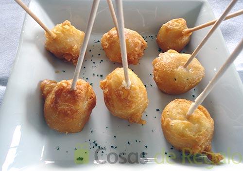 Receta de Brochetas de bacalao con tempura