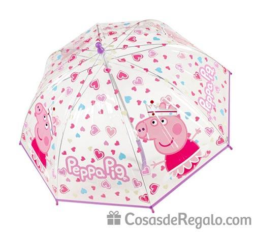 Paraguas de Peppa Pig: protege de la lluvia a los niños mientras se divierten