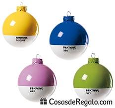 bolas para el rbol de navidad de pantone