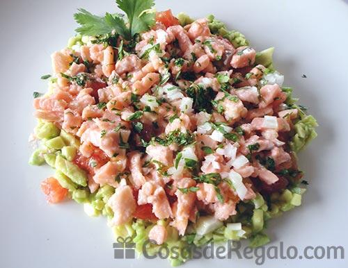 Receta de Cebiche de salmón
