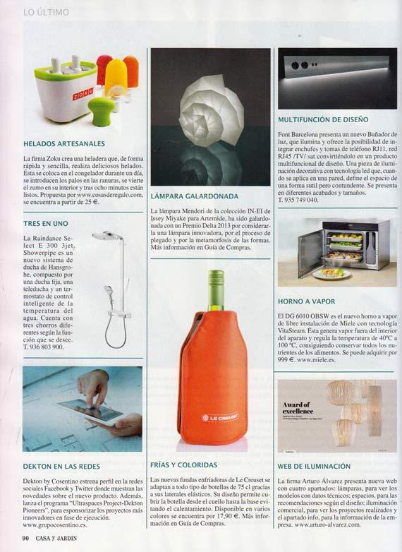 Revista Casa y Jardín de octubre de 2013