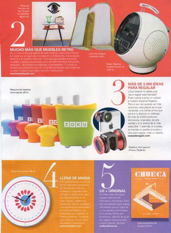 Revista Deco Shopping de Woman (Diciembre 2013)