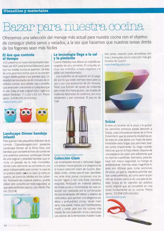 Revista cocina vegetariana número 44 (marzo 2014)