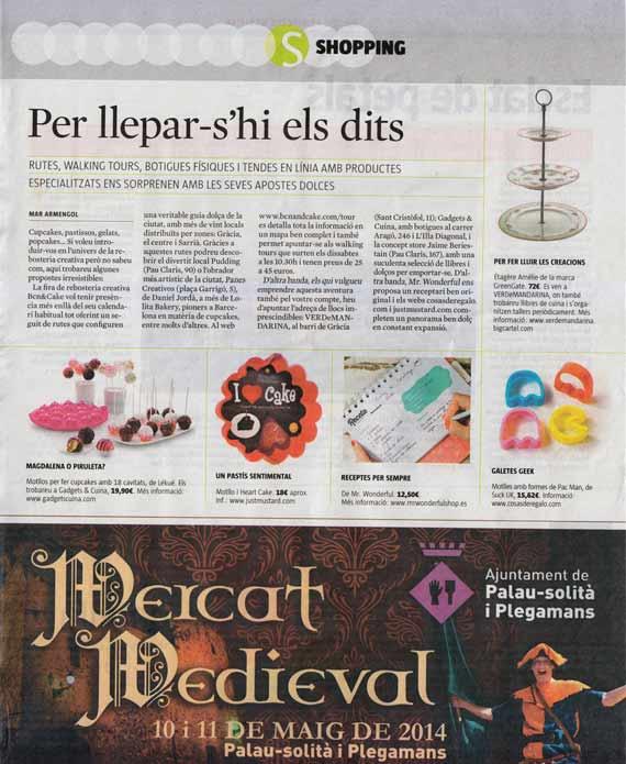 Revista Què Fem de La Vnaguardia (9 de mayo de 2014)