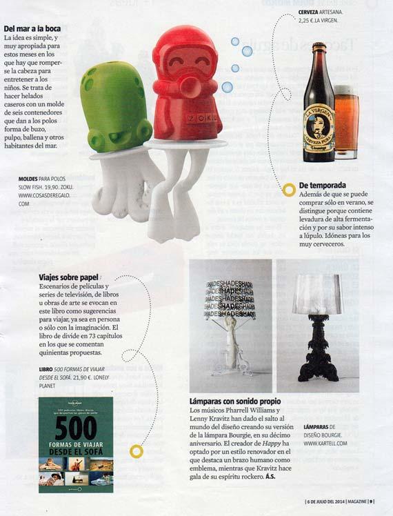 Revista La Vanguardia 4 de julio de 2014