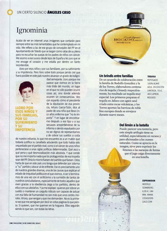 Magazine de La Vanguardia del 8 de junio de 2014