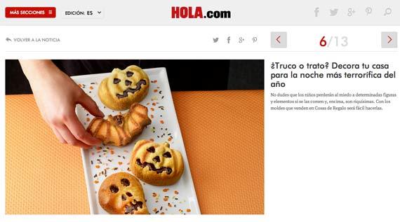 Web de Hola.com (27/octubre/2014)