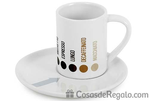 Conjunto de tazas espresso Barista: señala el tipo de café al servirlo