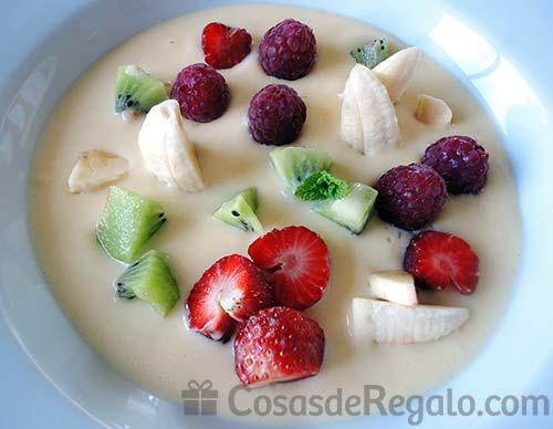 Receta de Sopa de fruta natural
