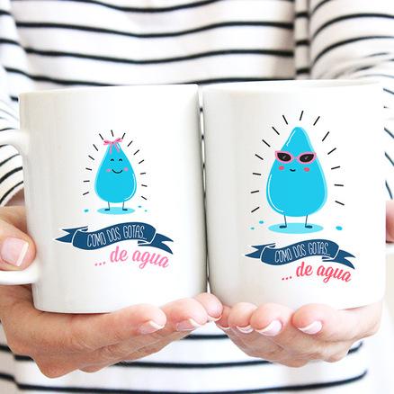 Tazas de desayuno, tazas románticas
