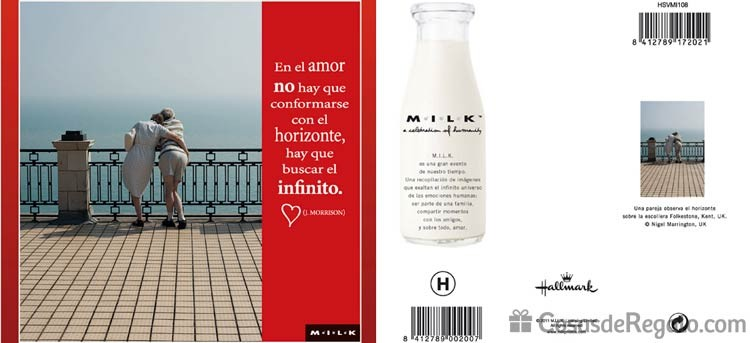 Tarjetas de felicitación románticas Milk, complementa tu regalo con amor