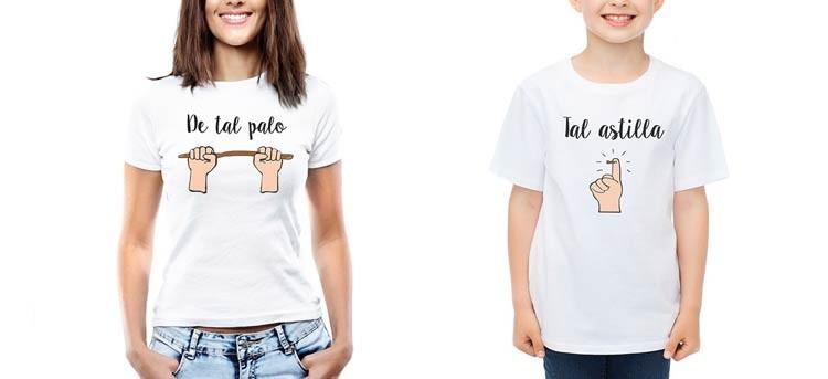 De tal palo, tal astilla: camisetas dobles para padres e hijos