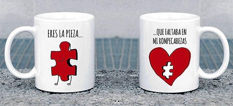 tazas románticas