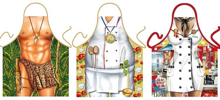 Delantales originales, protégete de la cocina de una forma diferente