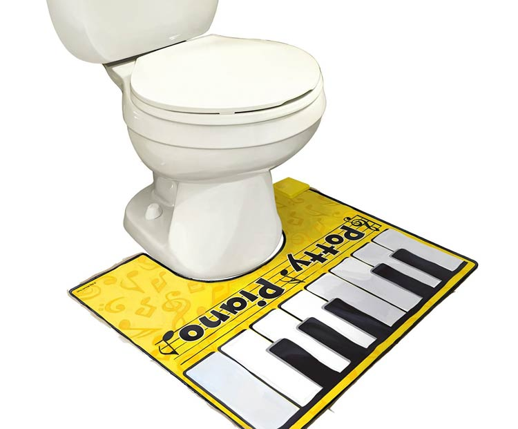Alfombrilla para el váter: toca el piano mientras estás en el trono