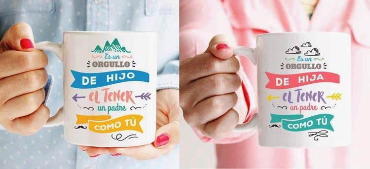 Tazas personalizadas para padres e hijos: la familia y el café, unidos