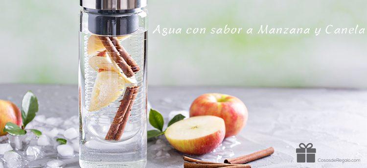 Recetas aguas con sabor frutas para botellas con infusor.
