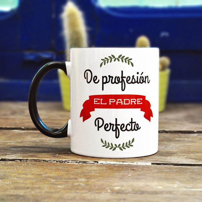 taza original de profesión padre perfecto