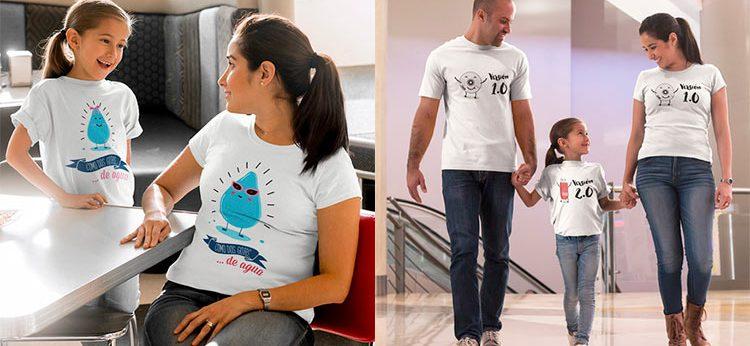 camisetas dobles originales, para regalos padres e hijos