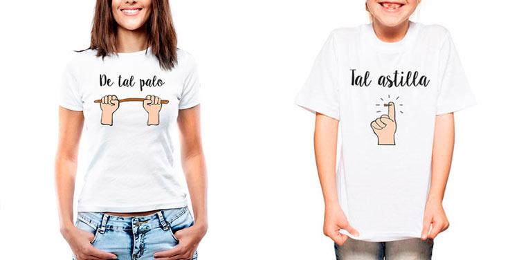 Pack de camisetas para madres e hijos