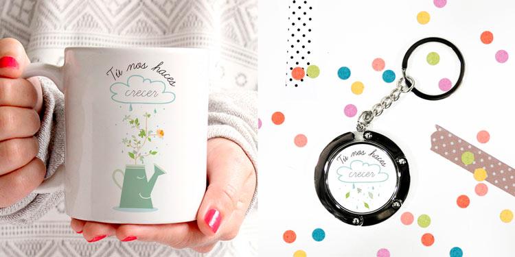 Pack con taza y llavero personalizados