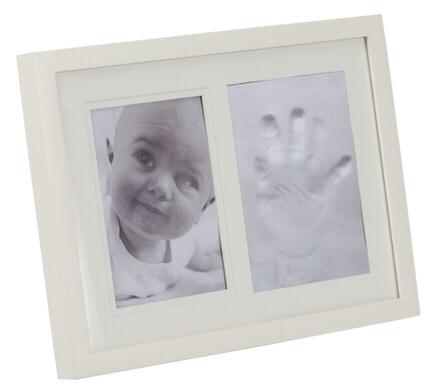 Marco de foto para huella de la mano del bebé