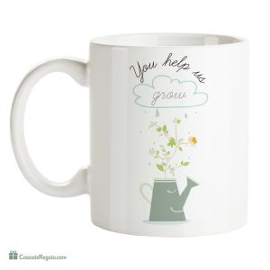 Regalos para profesores de inglés - Mug You help us grow