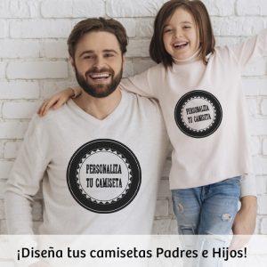 Personaliza tu camiseta padre e hijo