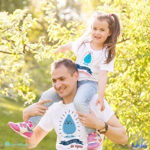 camisetas padre e hijo Como dos gotas de agua
