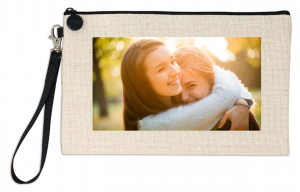 Portatodo símil lino personalizado con una foto